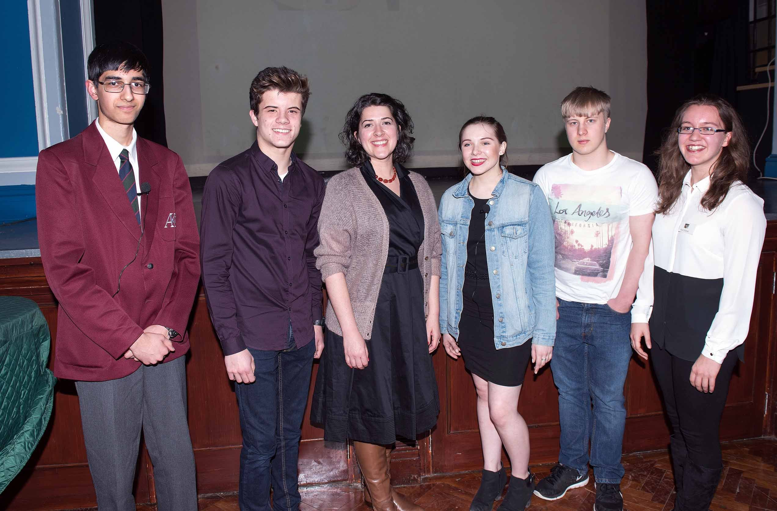 Classics Competition Finalists 2016 with Dr Katharine Earnshaw and Katrina Kelly, LSA CA
