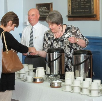 Refreshments in action