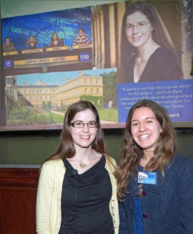 Dr Trimble and Katrina Kelly