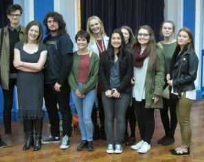 Edith Hall and LSA High students