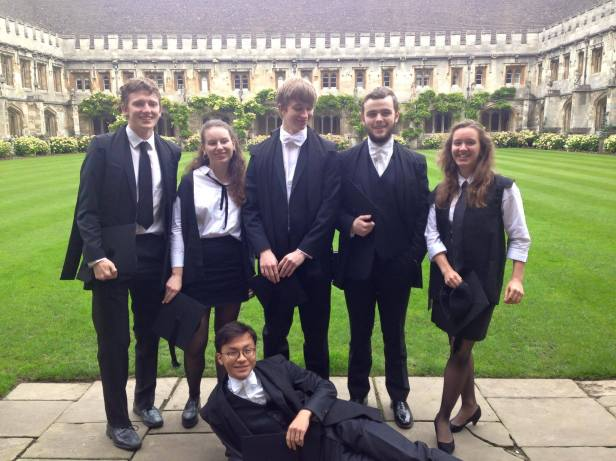 Matriculation Magdalen Classicists 2015