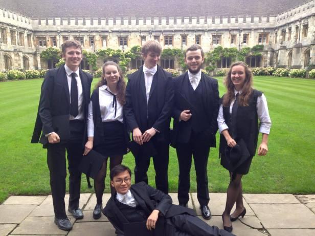 Matriculation Magdalen Classicists 2015