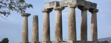 CA Photo of Temple of Apollo at Corinth