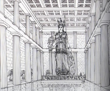 Athene Parthenos interior reconstruction
