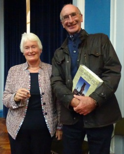 Dr Margaret Mountford and Clive Openshaw winning the raffle