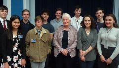 Dr Margaret Mountford and the LSA CA Classics Ambassadors