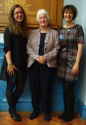 Katrina Kelly, Dr Margaret Mountford and Jayne Kelly