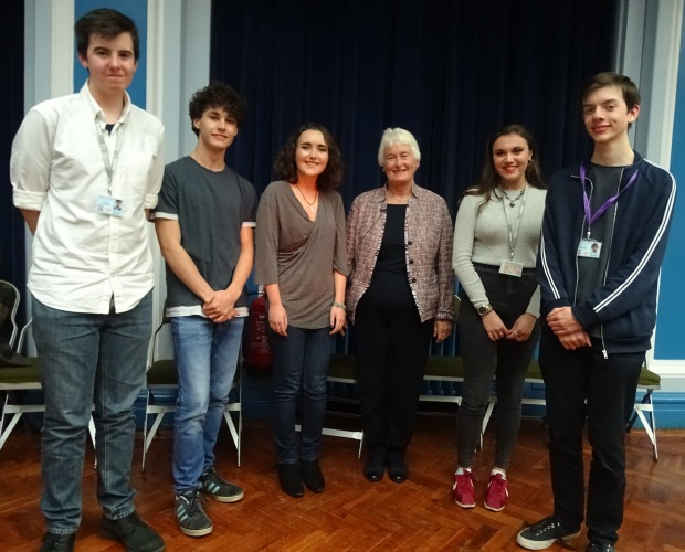 New LSA CA Classics Ambassadors and Dr Margaret Mountford