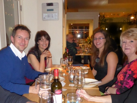 Dr Michael Scott and members of LSA CA at the Celebration Meal