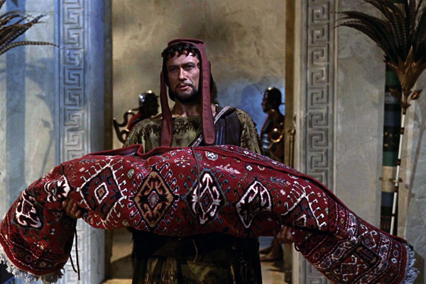 cleopatra in a rug