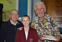 Granddad and granddaughter winning the raffle!